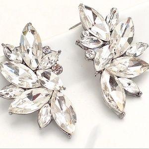 ✨Silver Crystal Earrings✨Bridesmaid Earrings✨